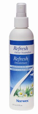 Norwex Refresh Odour Neutralizer was developed to combat and neutralize unpleasant odors in everyday situations. Amylase breaks down the bacteria, fats and proteins that cause odors. Once sprayed, the enzymes will neutralize the undesirable material causing the offensive odors, not just mask the odor with perfumes. 100% all natural ingredients, based on natural born microorganisms/enzymes thus have little consequence for humans, animals & nature. Great to eliminate the odor from burnt food.