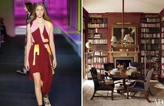 Pantone's 2015 Color of the Year: Marsala - The Interior Collective Pantone 2015, Pantone Color, Library Wall, Colour Combinations, Color Of The Year, Room Paint, Marsala, Pay Attention