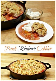 This Peach Rhubarb Cobbler will be the hit of the night! This deliciously scrumptious dessert will have everyone hanging out at the table, forgetting about phones, games, and TV's. Get your family involved in serving up this tasty dessert!