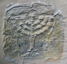 """Enrique Medina """"Menorá II"""" Acrílico sobre tela 50 x 50 cm.  http://www.portondesanpedro.com/ver-producto.php?id=11785"""