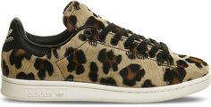 Adidas Stan Smith Leopard-Print Pony-Hair Trainers