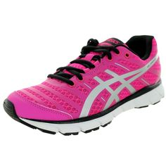 Enjoy the comfort and performance of these Asics Women's Gel-Zaraca 2 Neon Pinkver/Black Running Shoe. Made from pink mesh, these running shoes serve up just the right amount of cushioning, support, a