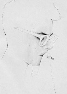 Judith Van Den Hoek CIGARETTE #art #illustration