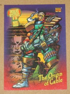 Marvel Universe Series 4 (SkyBox 1993) Card #137 The Origin of Cable EX-MT