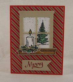To those who celebrate I want to wish you a very Merry Christmas! Very Merry Christmas, Christmas Time, Christmas Crafts, Sizzix Big Shot Plus, Window Cards, Stamping Up, Happy Holidays, Craft Projects, Diy Crafts