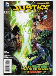 Justice League #31 NM 9.4 DC 2014 New 52!  intro new Power Ring Johns & Mahnke