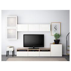 Ikea Living Room, Living Room Interior, Storage In Living Room, Dining Room, Ikea Dining, Room Ideias, Muebles Living, Tv Storage, Record Storage