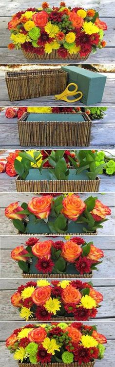 Make a flower arrangement with your own hands