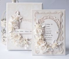 Layered card, flowers spellbinder dies