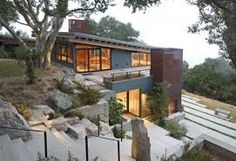 Steep Hillside House Plans Modern Exterior By Architecture Inc Steep Slope House Designs – rehberlik. Modern Exterior, Exterior Design, Exterior Colors, Exterior Paint, Residential Architecture, Architecture Design, California Architecture, Contemporary Architecture, Landscape Architecture