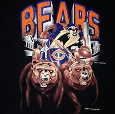 Chicago Bears Funny, Chicago Bears Pictures, Chicago Bears Super Bowl, Bear Pictures, Chicago Blackhawks, Funny Pictures, Nfl Bears, Bears Football, Football Art