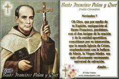Imágenes de Cecill: Estampita y Oración al Beato Francisco Palau y Que...