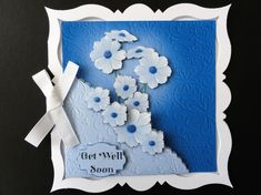 Quick easy cards to make up with a fabulous embossed look. Glue the tabs under the topper before putting the topper onto your card to give that extra bit of dimension.  Use the decoupagefor even more dimension