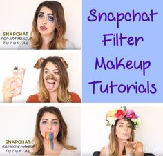 Snapchat Filter makeup tutorials! Recreate your favorite Snapchat filter look (the dog, rainbow face, floral crown and pop art!) with these video makeup tutorials. Perfect for Halloween: http://www.ehow.com/how_12343425_4-snapchat-filter-makeup-tutorials-need-watch.html?utm_source=pinterest.com&utm_medium=referral&utm_content=freestyle&utm_campaign=fanpage