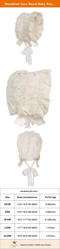 Hanakimi Lace Royal Baby Bonnet Handmade in Black or White or Ivory (Newborn - 3 Years) (XS/3M, Ivory). Baby Bonnets are a time old tradition that carries into present day because of their elegance and functionality. They're offered in small to large sizes then tie at the chin with two silk ribbons for a more secure and comfortable fit. Carry the tradition in your family with a bonnet from Hanakimi you can't find anywhere else. For parties and photos, choose from baby girl bonnets for the...