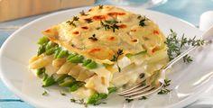 Rezept: Spargellasagne mit Mozzarella Mozzarella, Pasta, Quiche, Risotto, Mashed Potatoes, Low Carb, Vegan, Breakfast, Ethnic Recipes