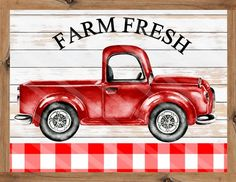 Fresh Farmhouse, Farmhouse Signs, Country Farmhouse, Printable Art, Free Printables, Homemade Frames, Wall Sayings, Farm Signs, Christmas Truck