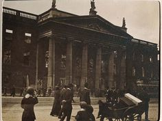 The General Post Office from Abbey St, head quarters of the provisional government & 17 - Digital Repository of Ireland Dublin Street, Dublin City, Ireland 1916, General Post Office, Holocaust Memorial, Fighting Irish, Study Abroad, Aerial View, Old Pictures