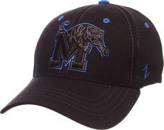 premium selection 851d4 0eeb8 Zephyr Men s Memphis Tigers Black Element ZClassic Flexfit Hat, Size   Large, Team Memphis