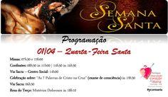 Quarta-Feira Santa - 01/04