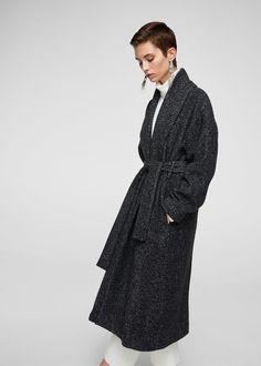 Manteau jaspé à chevrons - f pouManteaux Femme | MANGO France
