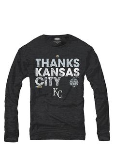 KC Royals Mens Black 2015 World Series Champs Parade Long Sleeve Fashion Tee http://www.rallyhouse.com/Kansas-City-Royals-Black-World-Series-Parade-Long-Sleeve-Fashion-Tee?utm_source=pinterest&utm_medium=social&utm_campaign=151101WORLDSERIES-KCRoyals $41.99