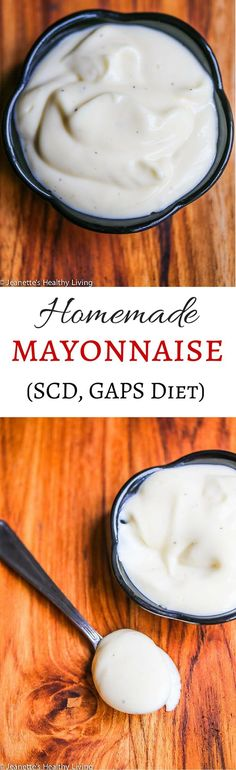 Homemade SCD GAPS Diet Mayonnaise Recipe - so easy to make and so much better than store-bought ~ http://jeanetteshealthyliving.com