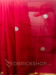 GOTA PATTI RED COTTON KOTA SAREE Rs 1955