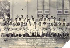 Student Government, Camarines Sur High School, Ragay, 1938 Sourced from the Veluz Family. Class Pictures, School Building, Pinoy, Filipino, Over The Years, Buildings, High School, Photo Wall, Student