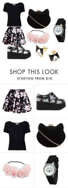 """Black Floral and Cats"" by lifeissweet170000 ❤ liked on Polyvore featuring Iron Fist, Frame Denim, New Look and Olivia Pratt"
