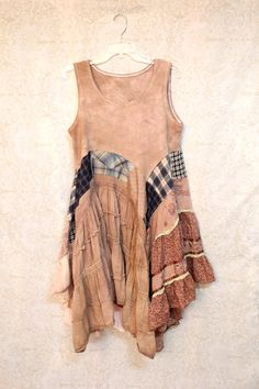 REVIVAL Boho Shirt, Shabby Chic Romantic, Bohemian Junk Gypsy Style, Mori Girl, Lagenlook, Cowgirl Country Girl Chic, Free People Style, Anthropologie Inspired