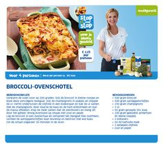 Broccoli-ovenschotel - Lidl Nederland Oven Dishes, Good Healthy Recipes, Healthy Food, Weight Watchers Meals, Quick Easy Meals, Food Inspiration, Love Food, Lidl, Healthy Lifestyle