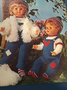 "Knitting Pattern Dolls Clothing To Fit 20"" Doll. DK Vintage PDF by CraftybyLulu on Etsy"