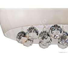 Plafon LAMPA sufitowa QUINCE LC1056-6 Azzardo OPRAWA kryształkowa okrągła crystal biały
