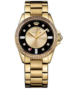 Juicy Couture Women's Stella Gold-Tone Bracelet Watch 36mm 1901208 - Juicy Couture - Jewelry & Watches - Macy's