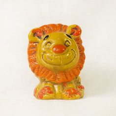 Vintage Lion Chalkware Bank by ShopShopModern on Etsy