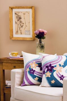 Almohadas con Cuadros Floral