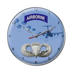 Airborne Badge Clock