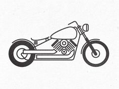 Pictogram style motorcycle illustration >> http://blog.spoongraphics.co.uk/tutorials/how-to-create-stylish-pictogram-inspired-illustrations