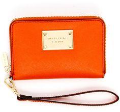michael kors orange wristlet