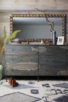 Handcarved Streamlet Six-Drawer Dresser - anthropologie.com