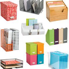 Entry way organisation file setup storage Home Office Storage, Office Supply Organization, Clutter Organization, Paper Organization, Magazine Organization, Organizing Paperwork, Organizing Tools, Cute Office, Desk Office