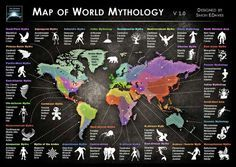 Mythology map. Very interesting.