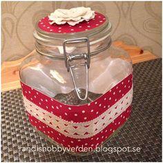 Randis hobbyverden: Pyntet glasskrukke som julegave