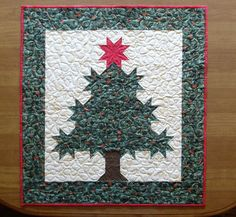 Christmas Tree Quilted Table Topper Christmas Tree by HollysHutch