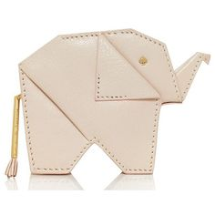 Kate Spade Strut Your Stuff Elephant Coin Purse featuring polyvore, fashion, bags, wallets, clutches, accessories, clothing, zip-around wallet, elephant wallet, pink wallet, kate spade wallet and kate spade