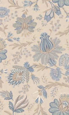 Colefax and Fowler Casimir Old Blue Wallpaper main image