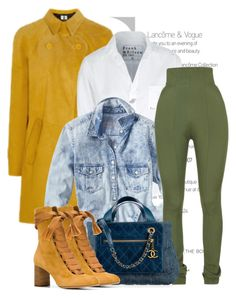 """Mustard Mix"" by queenvirgo on Polyvore featuring Jennifer Lopez, Frank & Eileen, Gap, Balmain, Chanel and Chloé"