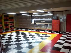 Garage cabinets and flooring can sure change the way your boring garage looks and functions.