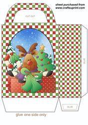 Christmas Reindeer Gift Bag 2